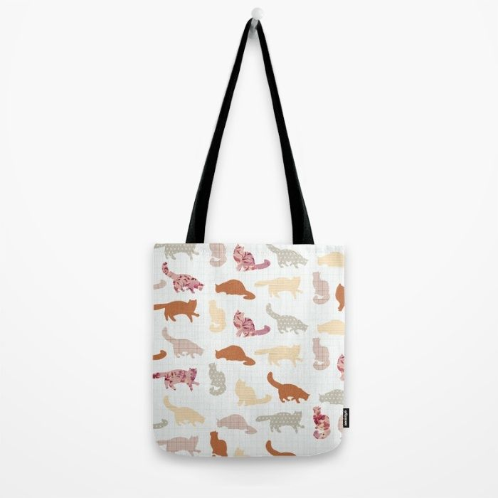 Luggage With Cat Design | 37 Promote Tote Bag Cats Pattern By Flying Bathtub  Size 13
