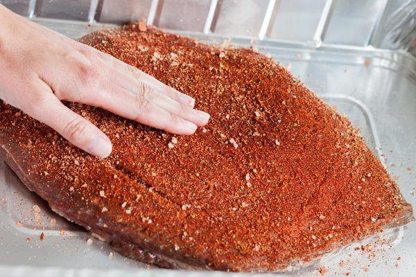 The secret to a delicious Texas brisket is in the rub. A rub is a mixture of spices that is rubbed into the meat before cooking. It infuses the brisket with flavor. Everyone has his or her own version of Texas brisket rub and each one can have a unique flavor. Make a big batch of it and store it in an air tight container in the pantry.