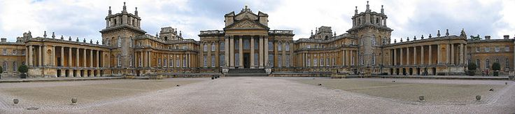 Blenheim Palace ~ home of the Dukes of Marlborough (from Wikipedia)