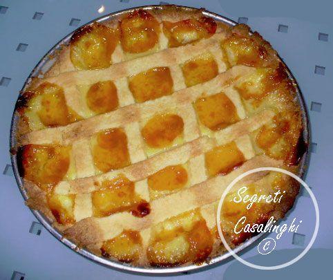 crostata crema pasticcera marmellata,ricetta della crostata con crema pasticcera,ricetta veloce e casalinga della crostata, crostate,crostata albicocche,