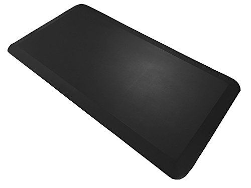The Original 3/4 OASIS MAT Non-Slip Anti-Fatigue Comfort Mat Ergonomically Engineered Non-Toxic Waterproof 2039 inches (Black)