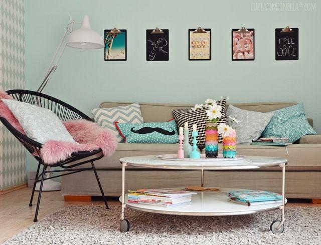 DIY | klemmbretter mit tafellack für wankelmütige wand-dekoratösen