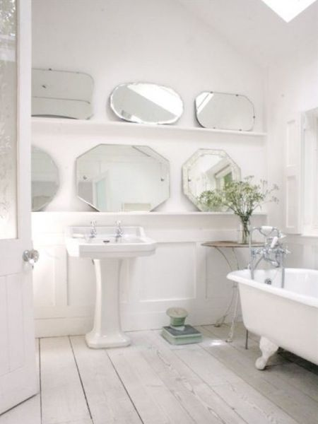 Perfect White Country Bathroom Find This Pin And Decorating Ideas