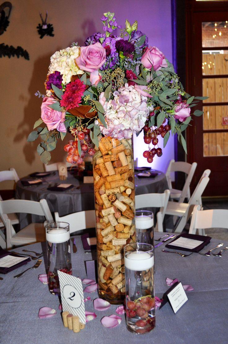 Winery wedding centerpiece