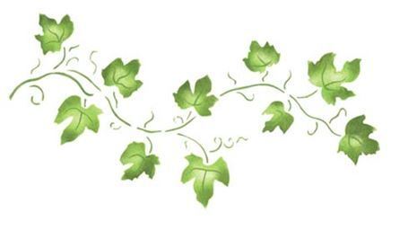 Small Ivy Vine Wall Stencil