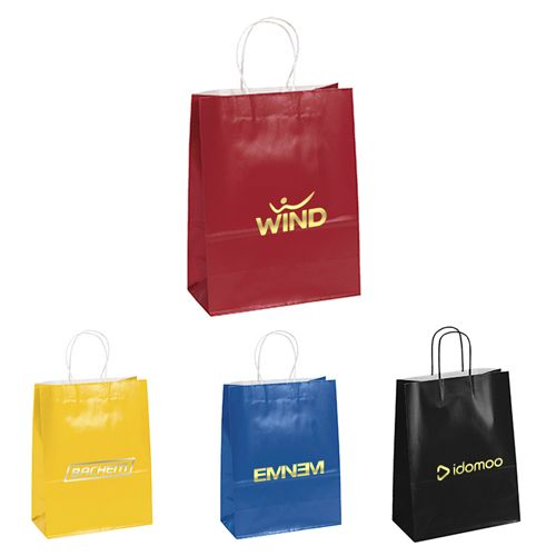 Impress your customers by giving out these logo printed shopping bags with purchases or as a special event bag.   #EcoFriendlyBags  #FreeShip #Free