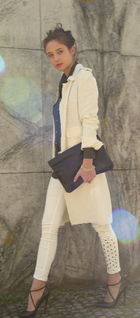 Zara blouse, Zara cardigan, Zara jeans, Zara leather heels, COS leather clutch, CULTURE STREET