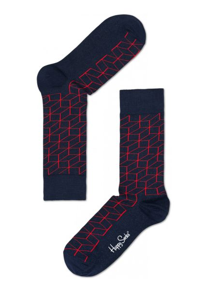 Fun Navy Socks for Happy People at Happy Socks! Optic Navy and Red Sock
