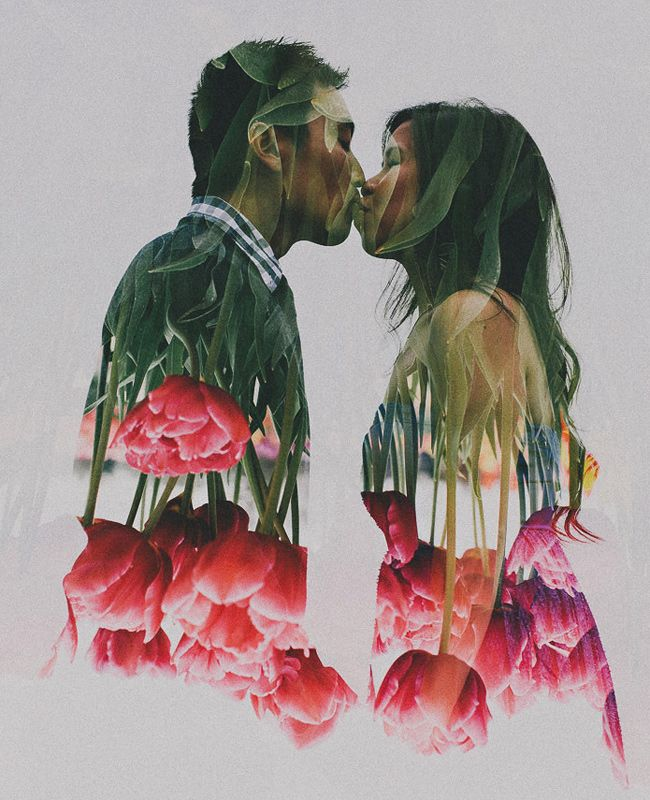 Multiple Exposure Wedding Photos — these would be gorgeous wall art pieces if done correctly.