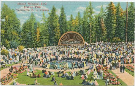 1940 Postcard Malkin Bowl Stanley Park, Vancouver, B.C.