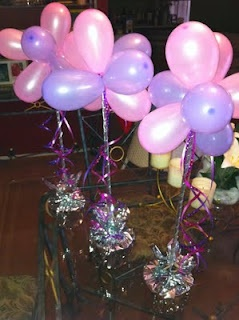 37 best balloon sticks images on pinterest decorations for Air filled balloon decoration ideas