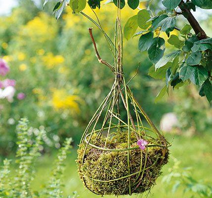 Gartendeko - kreative Deko für Balkon und Garten: Kerzenleuchter aus der Natur