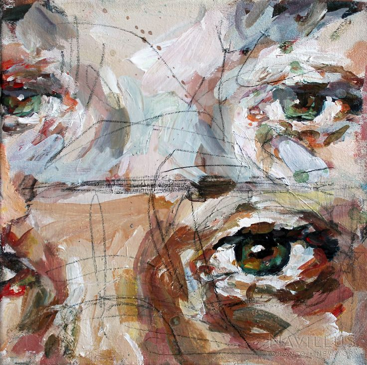 Elly Smallwood, Close Up, 12x12 in, acrylic on canvas, 2014