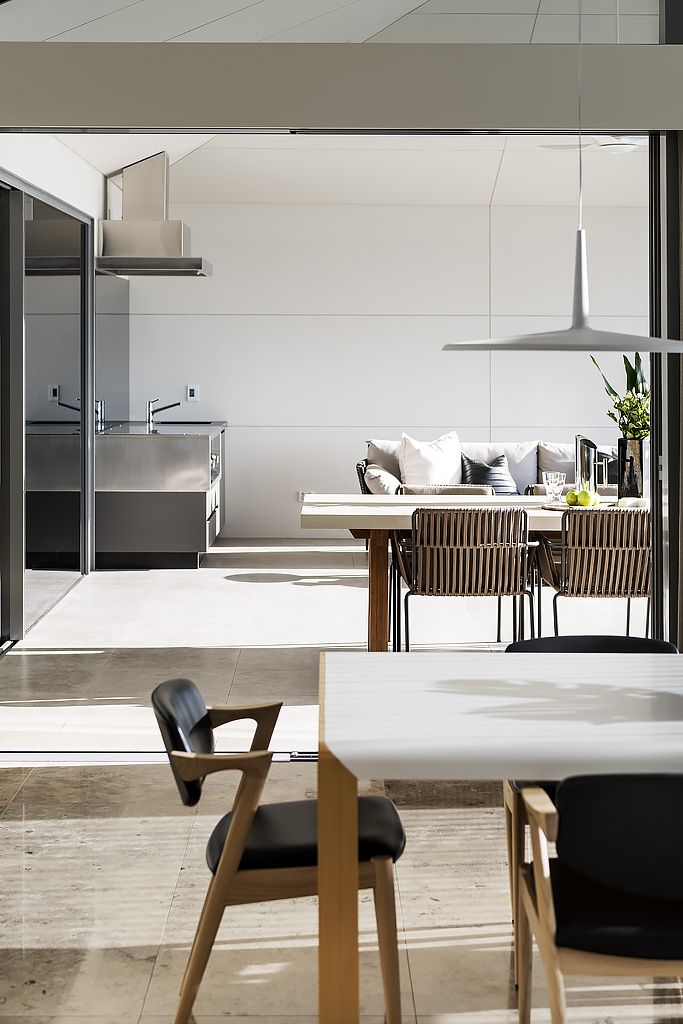 """Alfresco and Dining furniture in """"Refined Light"""" designed by Greg Davies Architects, built by Urbane Projects"""