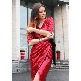 Amazing Red Sequin Dress! Rochie din paiete rosii perfecta pentru evenimentele de seara!
