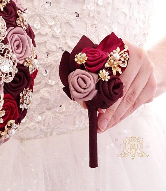 12 Silk Roses Wedding Favor Flower Corsage Pick Red