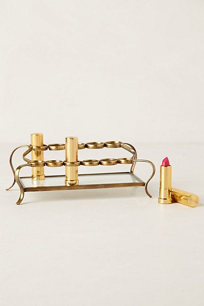 Tiered Vestige Cosmetics Holder #anthrofave - this is so pretty, but as of now I don't have the lipsticks to fill it