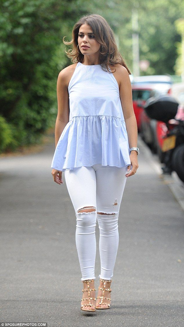 Favourite colour scheme: Chloe Lewis also injected a subtle dash of baby blue in to