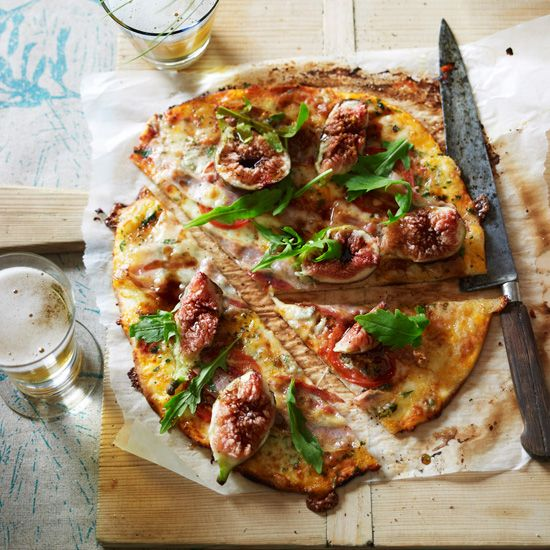 Gorgonzola, Fig and Pancetta Pizza | Since this pizza has a lot going on—from creamy cheese to sweet figs—pair it with a refreshing lager, like Tasmania's James Boag's. A sparkling rosé would also work.
