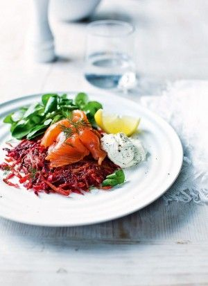 Smoked-salmon-with-beetroot-and-parsnip-rosti