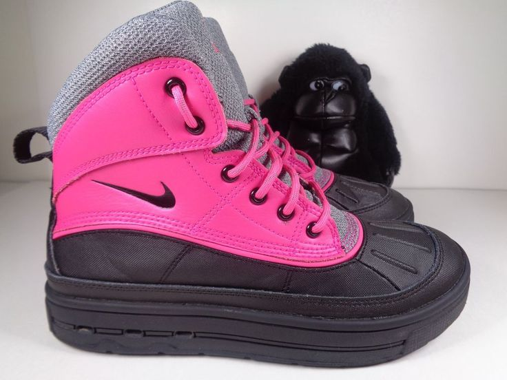 Kids Nike Woodside 2 High Pink Boots Girls size 5 Youth 524876-600 #Nike #Boots
