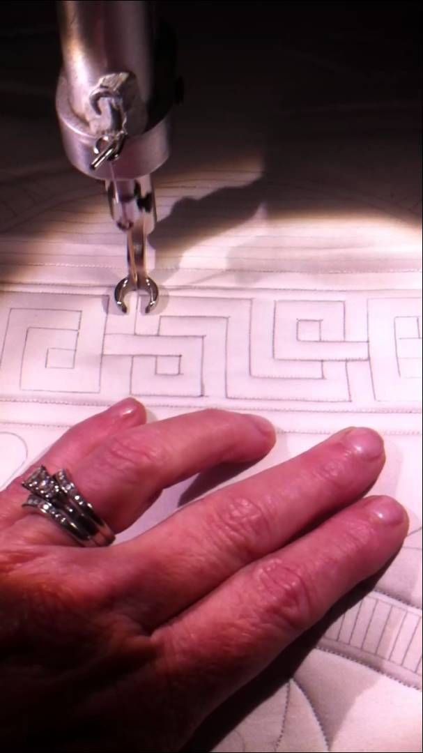 Celtic border quilting.  #quilting #borders #celtic #video #tutorial
