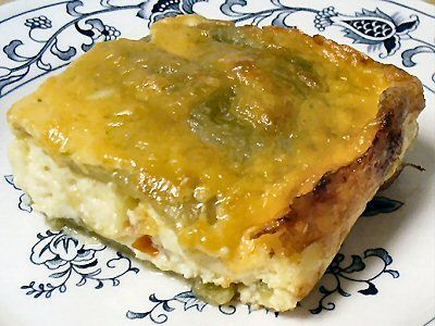 CHILE RELLENO CASSEROLE - Linda's Low Carb Menus & Recipes.  Keto Lunch, Dinner Recipe.