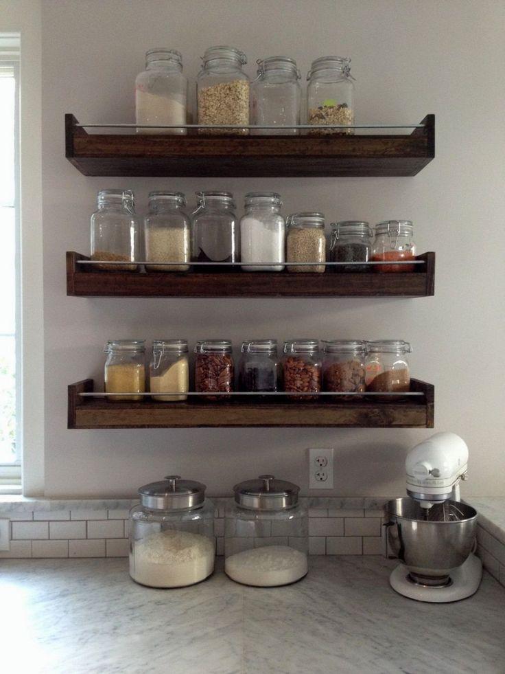 Floating Stainless Steel Kitchen Shelves - http://godecorator.xyz/floating-stainless-steel-kitchen-shelves/
