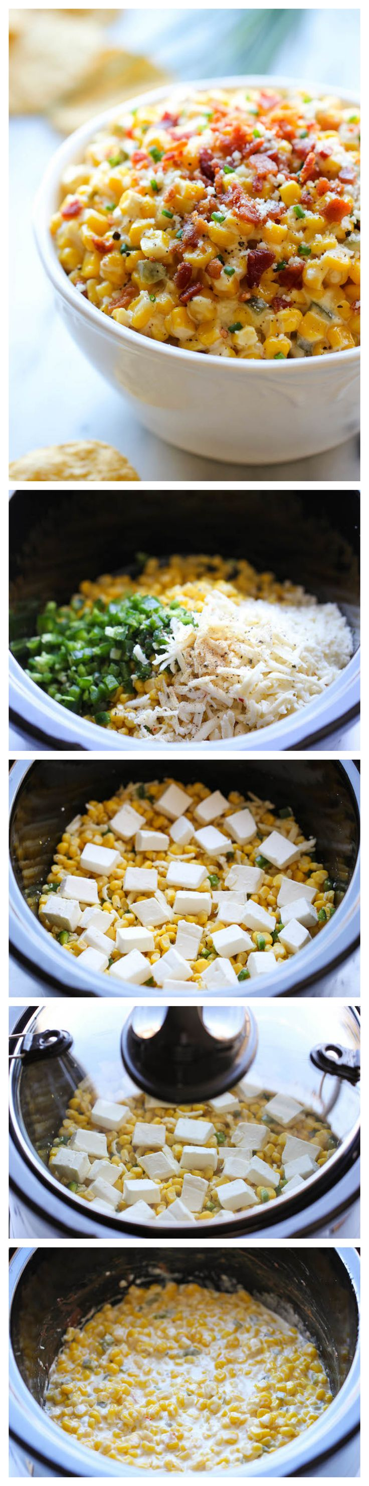 Slow Cooker Corn and Jalapeno Dip - @Michele Morales Morales Morales Morales Morales Morales Howard Delicious