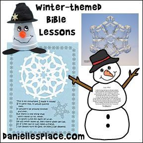 Winter-themed Sunday School Lessons from www.daniellesplace.com: