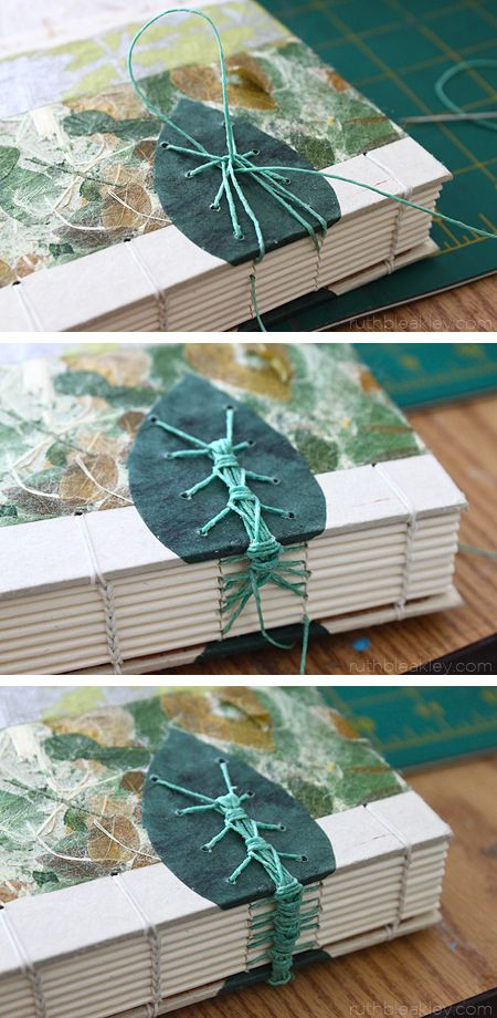 The making of a Caterpillar Stitch Book by Ruth Bleakley #bookbinding
