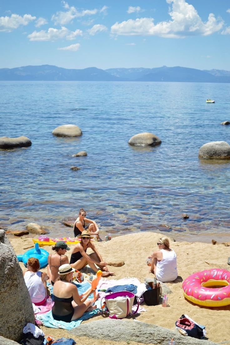 SUMMER IN SOUTH LAKE TAHOE: earlier this summer i drove over to south lake tahoe with my 7 besties [to  celebrate my bachelorette]. it was truly one of the most perfect weekends –  warm weather, a bad ass house, blue water, tons of laughing, good food,  good vibes ... tahoe might almost be better in the summer than in the  winter!  WHAT TO DO: some memorable moments from our weekend include: our amazing might be my  favorite ever–airbnb, our leisurely hike to chimney beach[where we found…