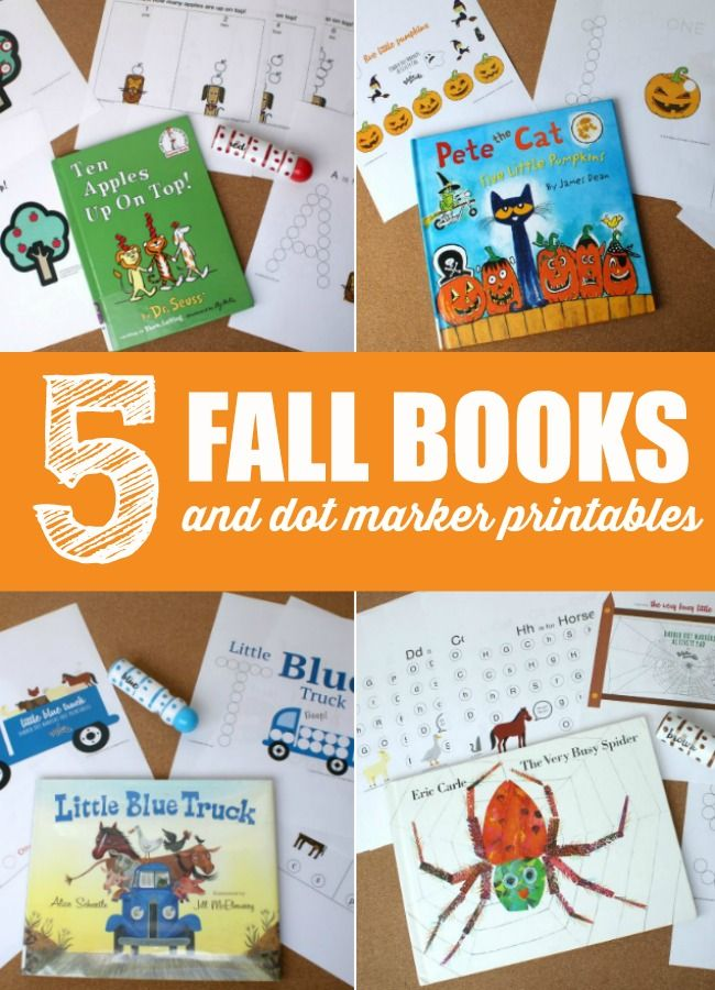5 Fall Books And Dot Marker Printables From Fiddle Doodle