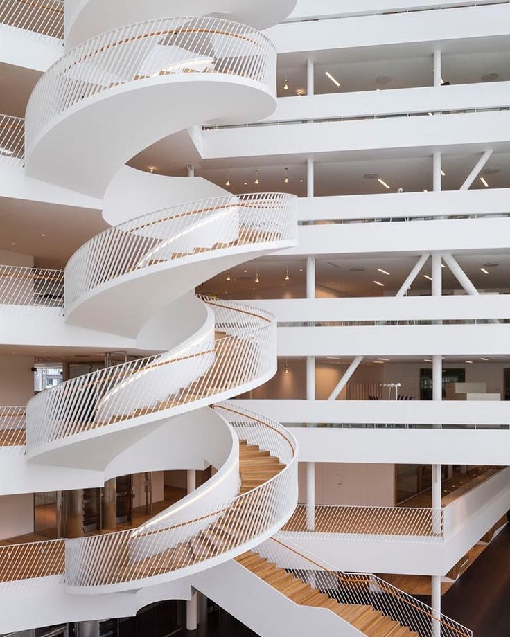 How beautiful is this #staircase designed by #Danish #architectural practice @3xn_gxn ? \\\ Photo by @adammork by designmilk