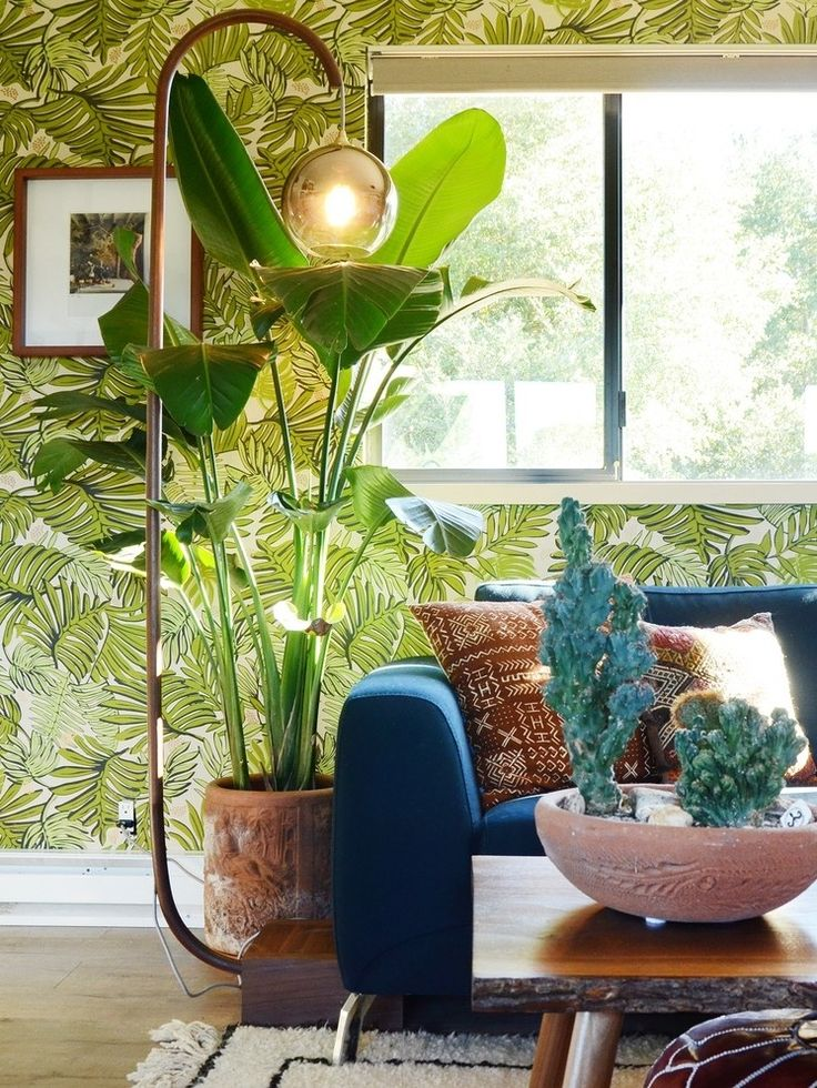 The space was previously so drab. So stylish architects Austin and Alex gutted the whole thing and rebuilt it themselves. They added vibrant wallpaper by Justina Blakeney, installed a modern kitchen, and added a ton of plants in every nook.