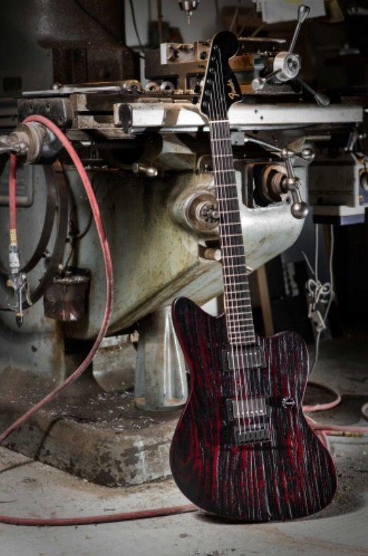 Fender Jim Root Signature Sandblasted Mahogany Jaguar.