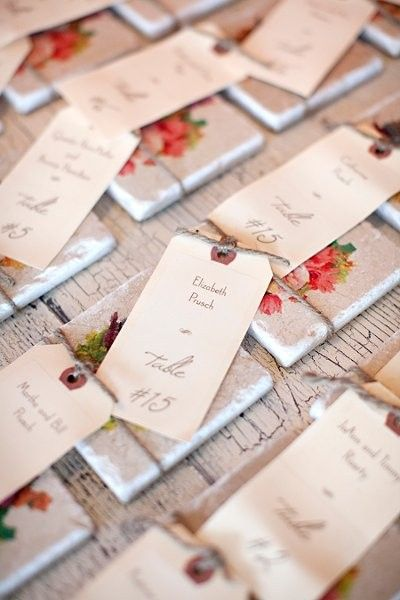 1000 images about table seating card ideas on pinterest Unique place card ideas