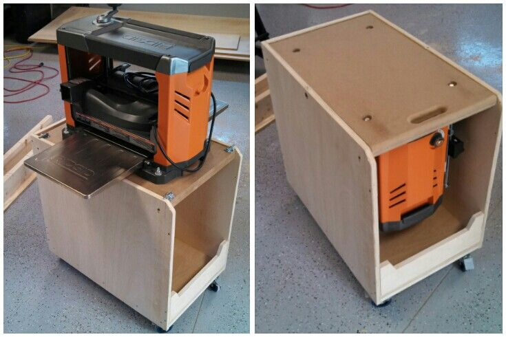Thickness planer stand woodworking projects plans for Woodworking cart