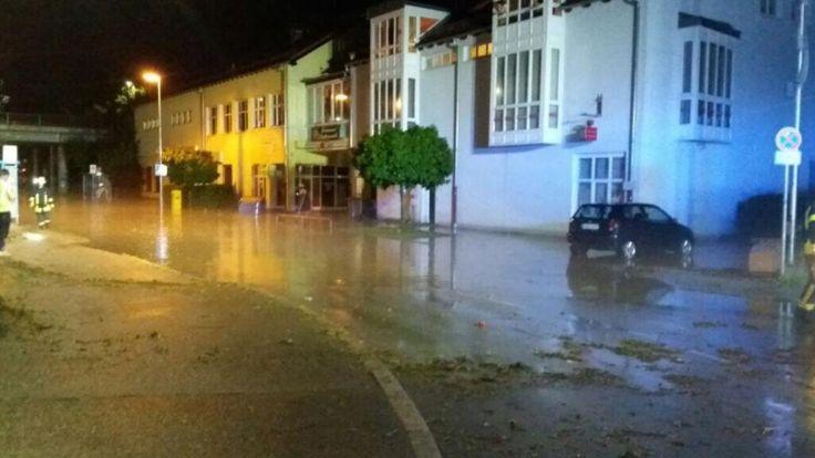 Nach dem Unwetter von Freitag hatte der Landkreis Katastrophenalarm ausgerufen