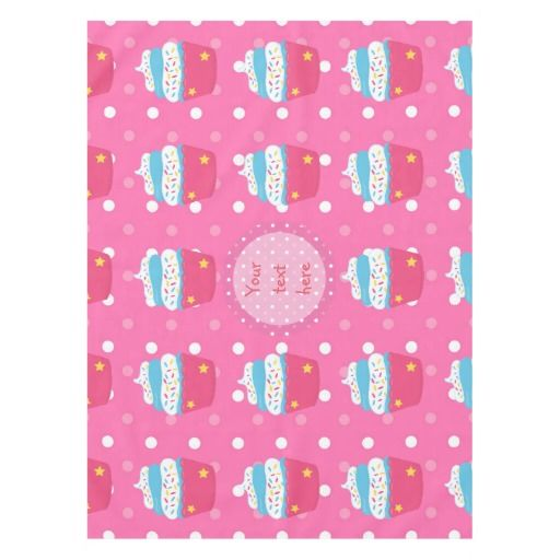 Girl's Pink Cupcake Wars Baking Birthday Party Tablecloth