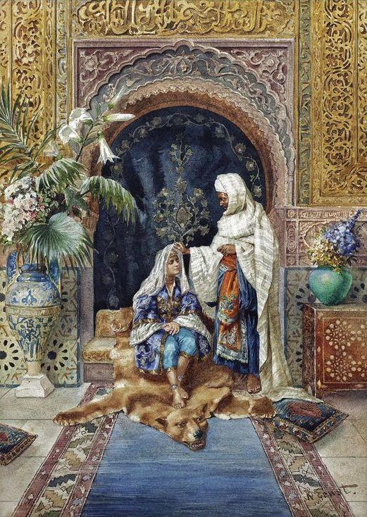 Rudolf Ernst - Le calife et son favori