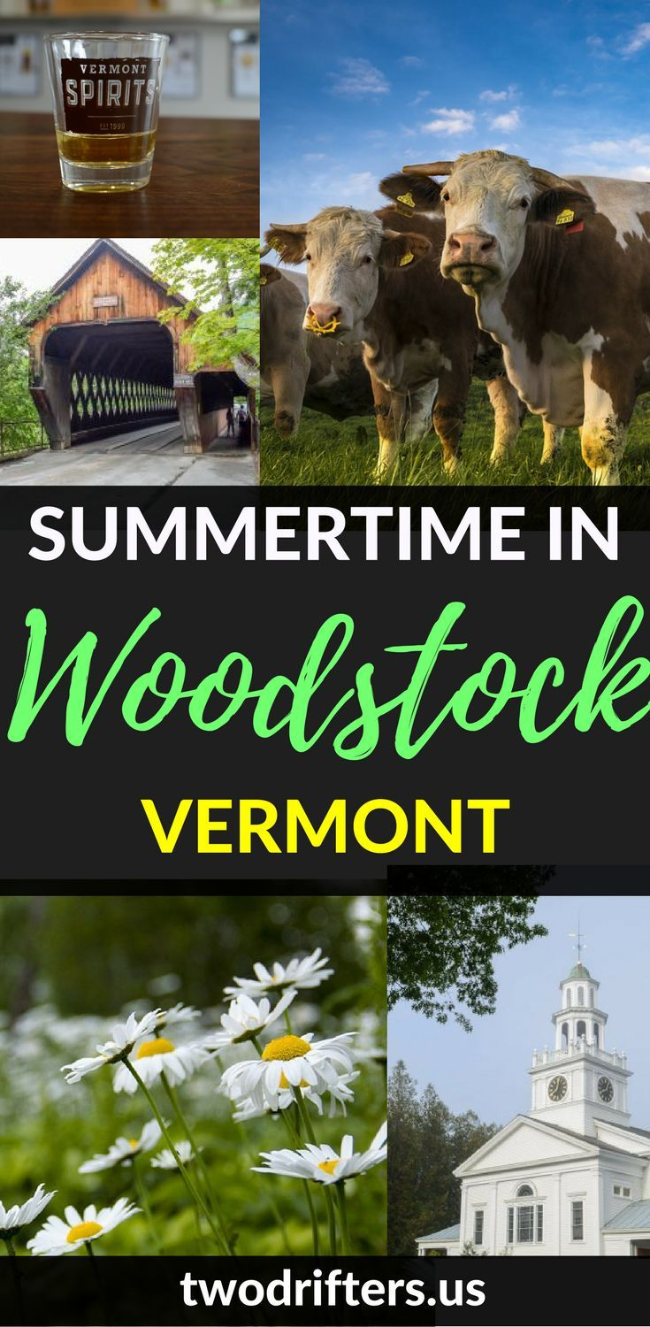 Summertime in Vermont. There's no better place for a classic New England summer than Woodstock, VT. This list of where to eat and what to do in Woodstock will help make your summer plans their best.   ************  New England travel | Vermont travel guid