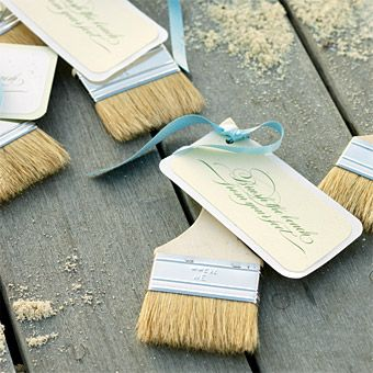 Brides: Seaside Wedding Style! Guests can brush the sand off their feet.