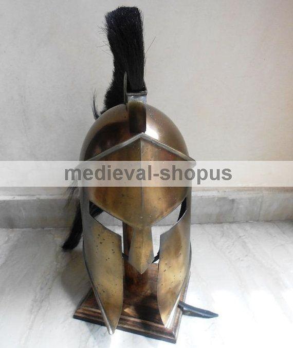 300 movie king spartan helmet leonidas larp by Medievalshopus