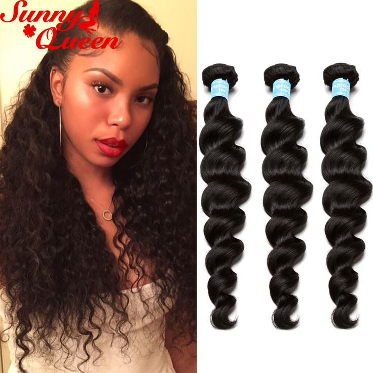 8A Indian Curly Virgin Hair Loose Wave Unprocessed Human Hair Extensions 3Pcs Indian Loose Curly Hair Natural Black Hair Weaves