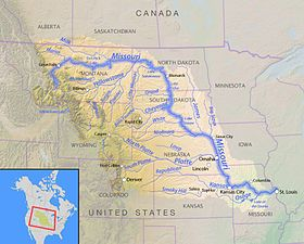 The Missouri River is the longest river in North America and a major waterway of the central United States.