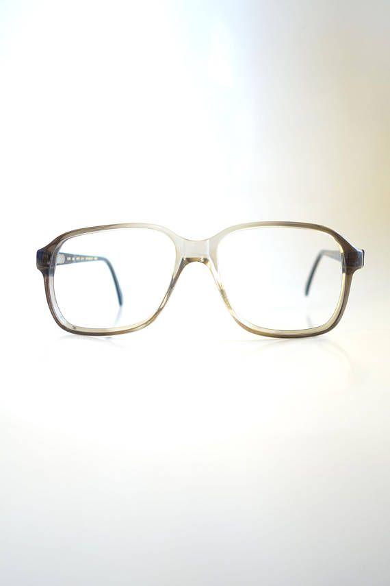 4656fa96ed3b0 Mens Vintage Boxy Eyeglasses - 1960s Mens Horn Rim Glasses - Brille ...