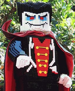 Want some Halloween fun?  Then head over to LEGOLAND!  Scary Lego figures like this Dracula are a highlight of their Brick or Treat Trail.  Only a few days left of October…so hurry over :) #Lego #LEGOLAND #Halloween #Dracula