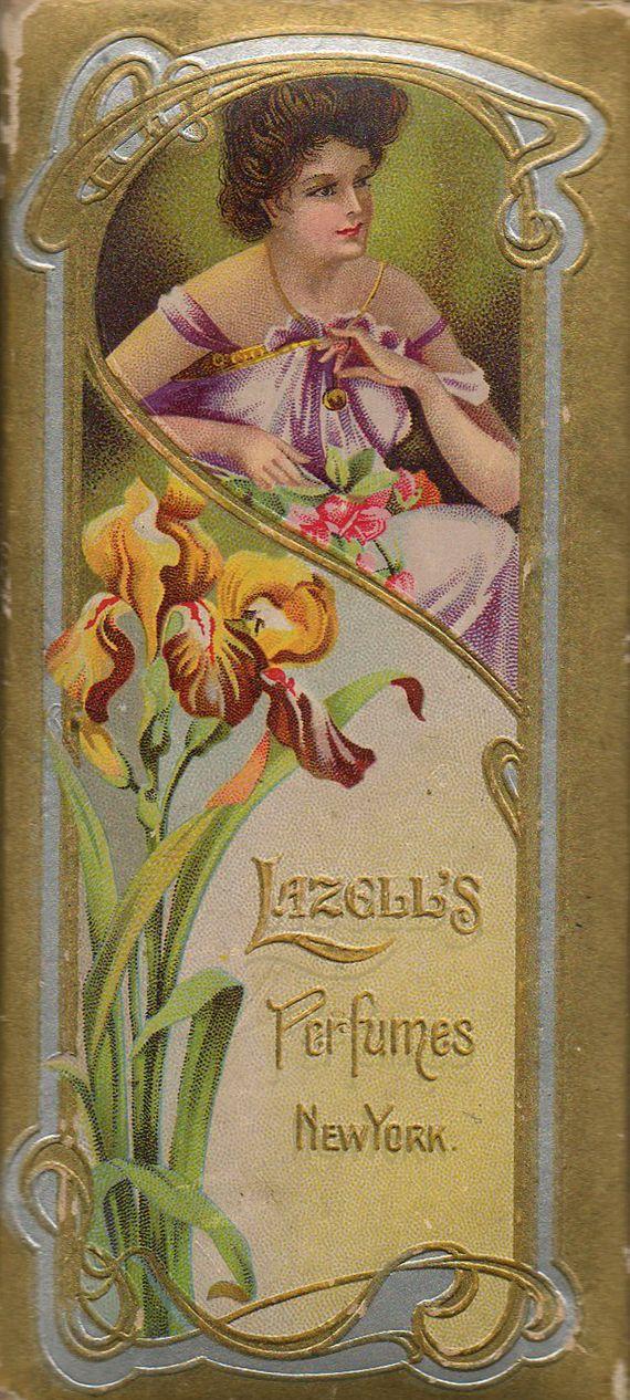 vintage perfume label images | ... Frog Designs: Free Vintage Image Perfume Label Lazell's Perfumes NY
