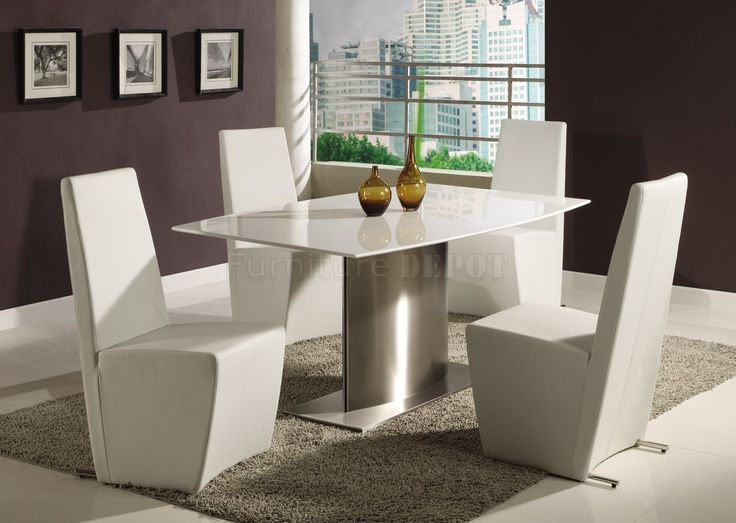 Exceptional Modern Formal Dining Room Sets | Modern Dining Room Table W/White Marble  Top U0026